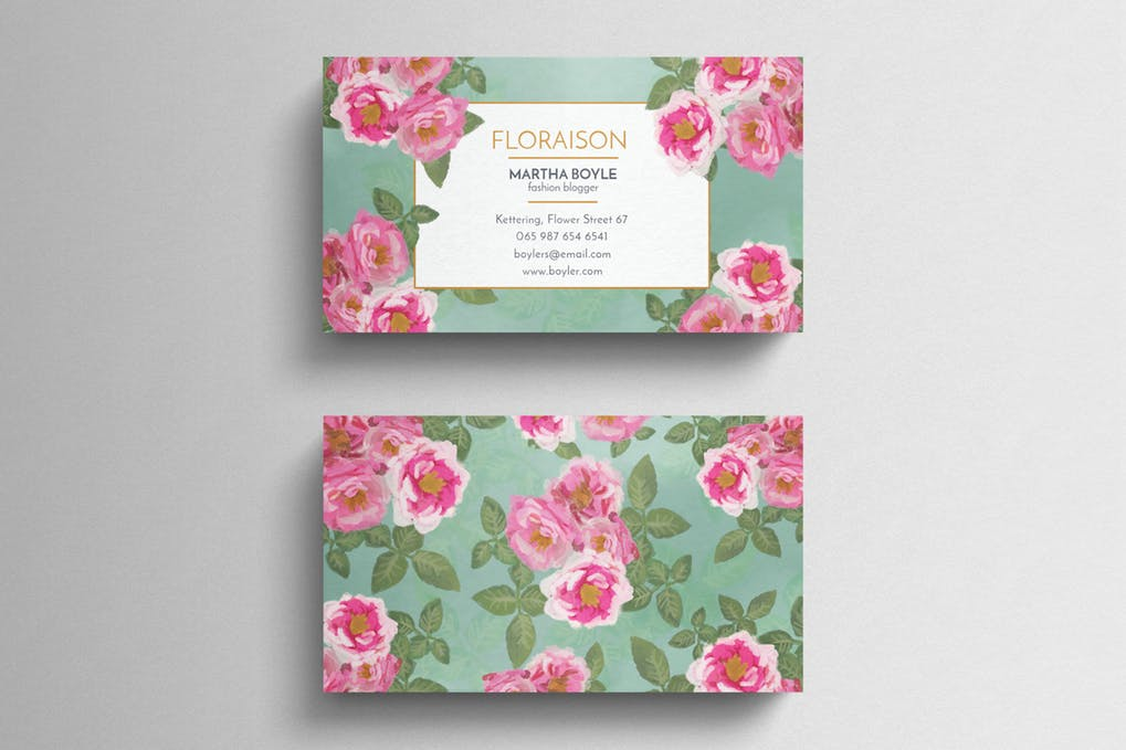 art director's pick of event planner business card #1