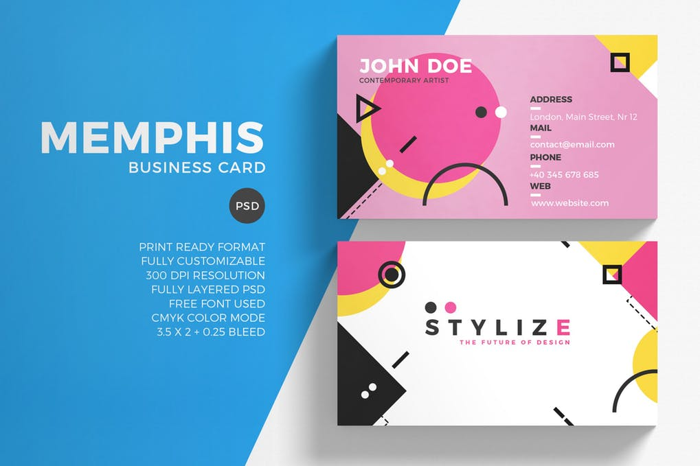 art director's pick of event planner business card #3