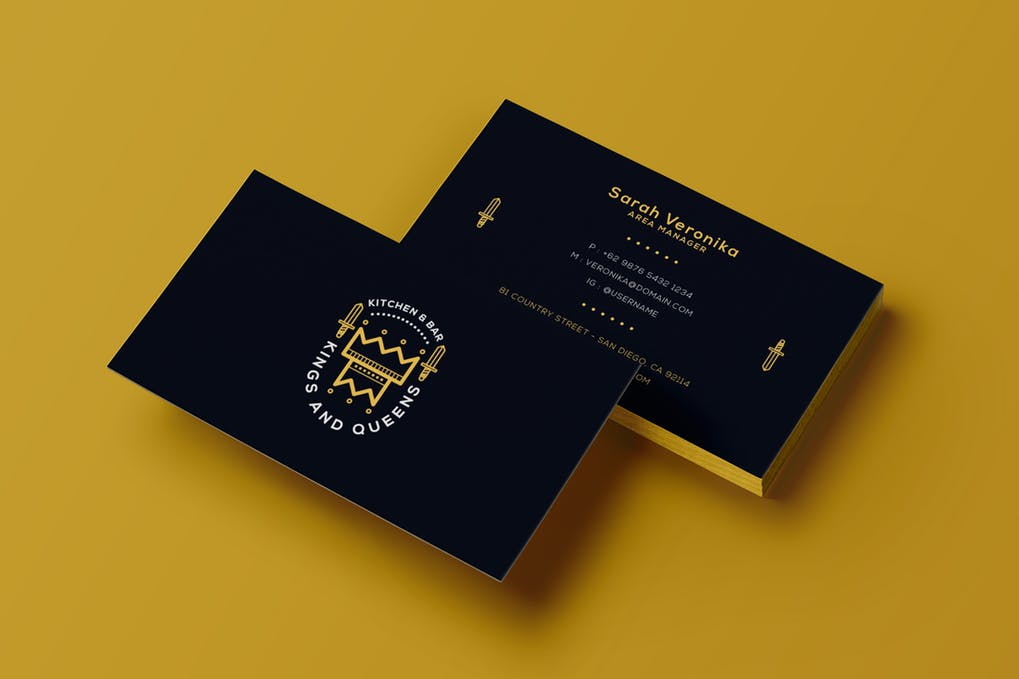 art director's pick of event planner business card #4