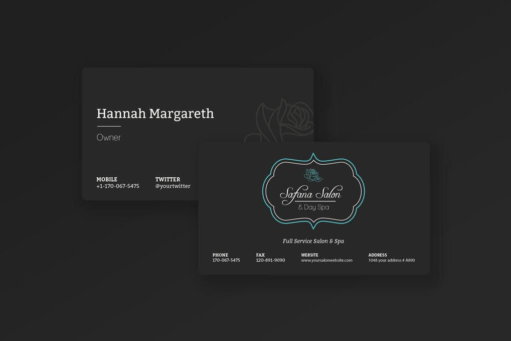 art director's pick of hair salon business card #14