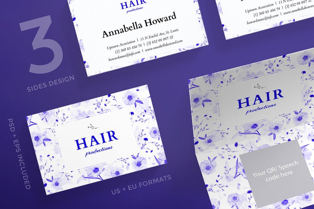 art director's pick of hair salon business card #3