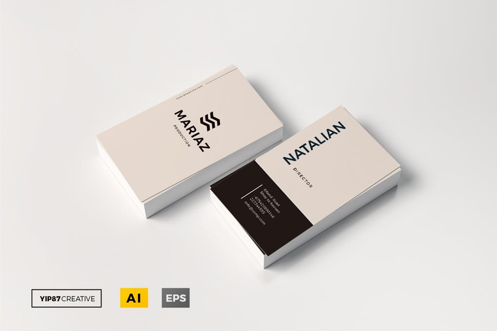 art director's pick of hair salon business card #8