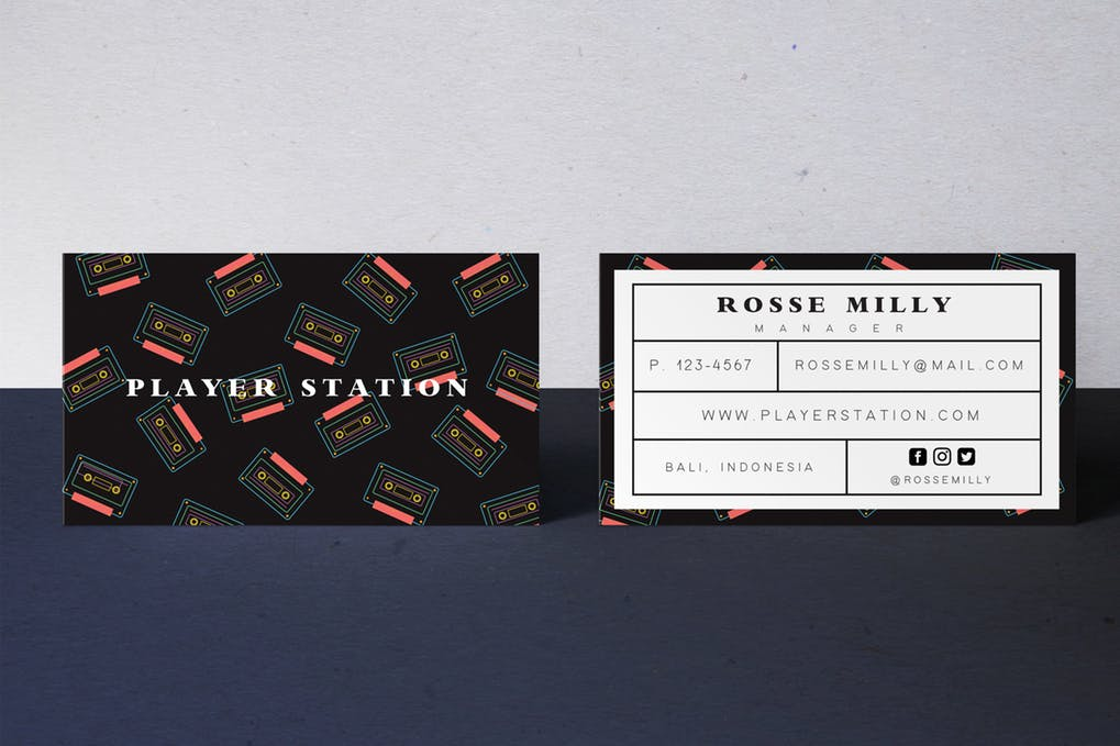 art director's pick of hipster business card #1