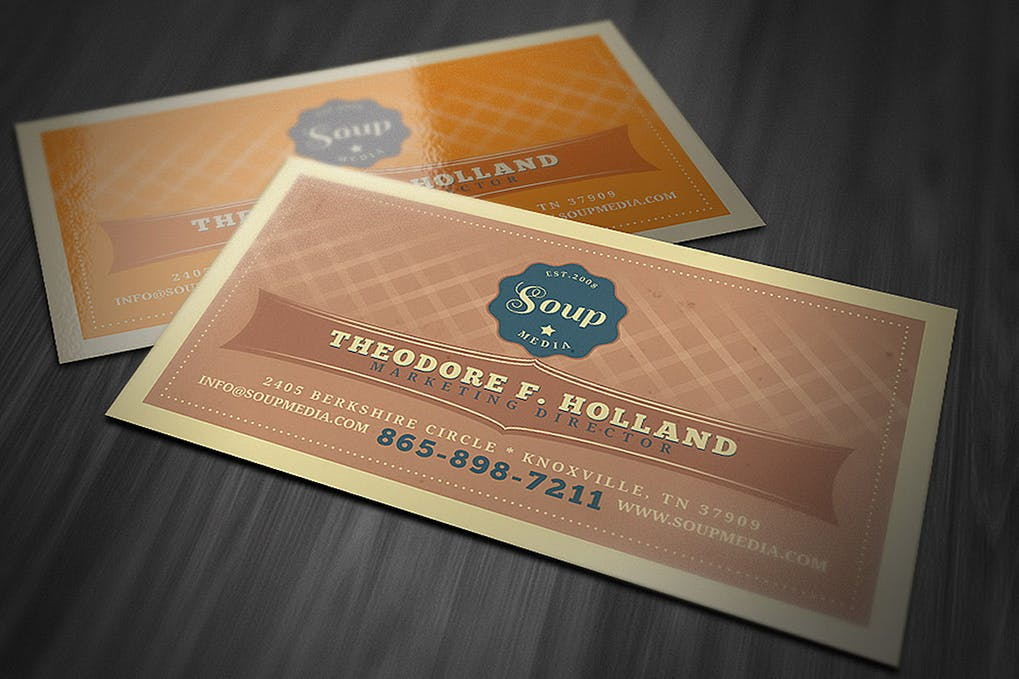 art director's pick of hipster business card #5