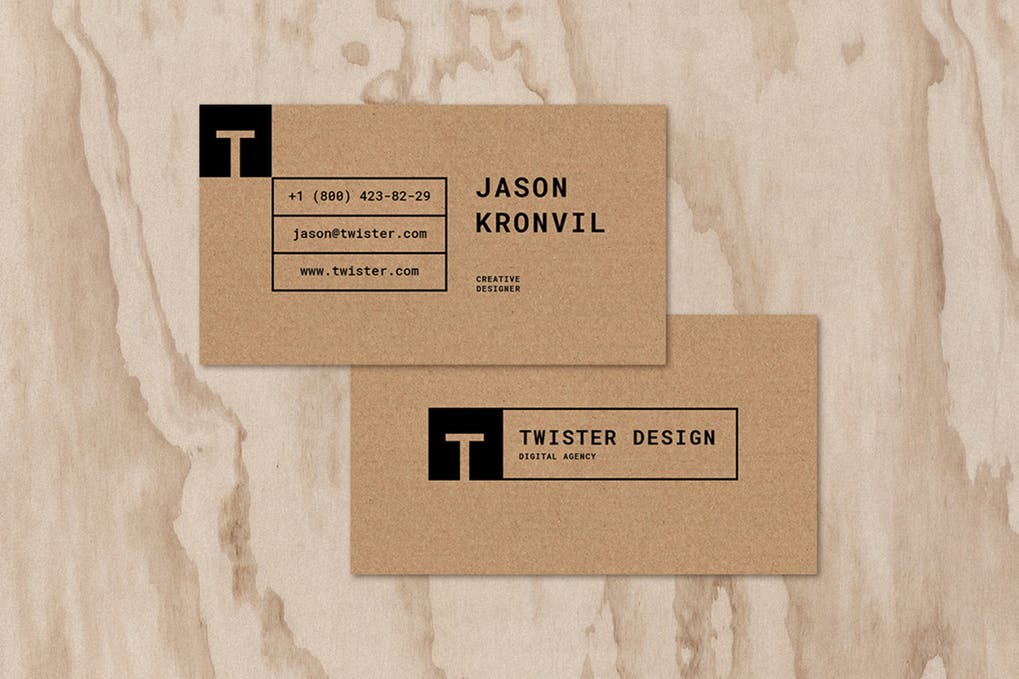 art director's pick of hipster business card #7