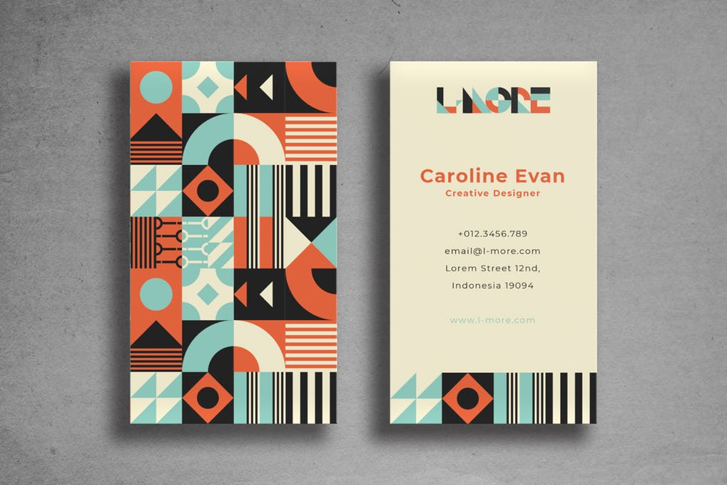 art director's pick of hipster business card #9