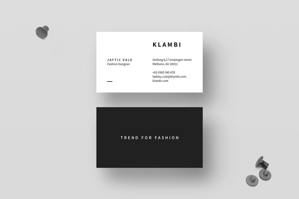 art director's pick of interior design business card #10