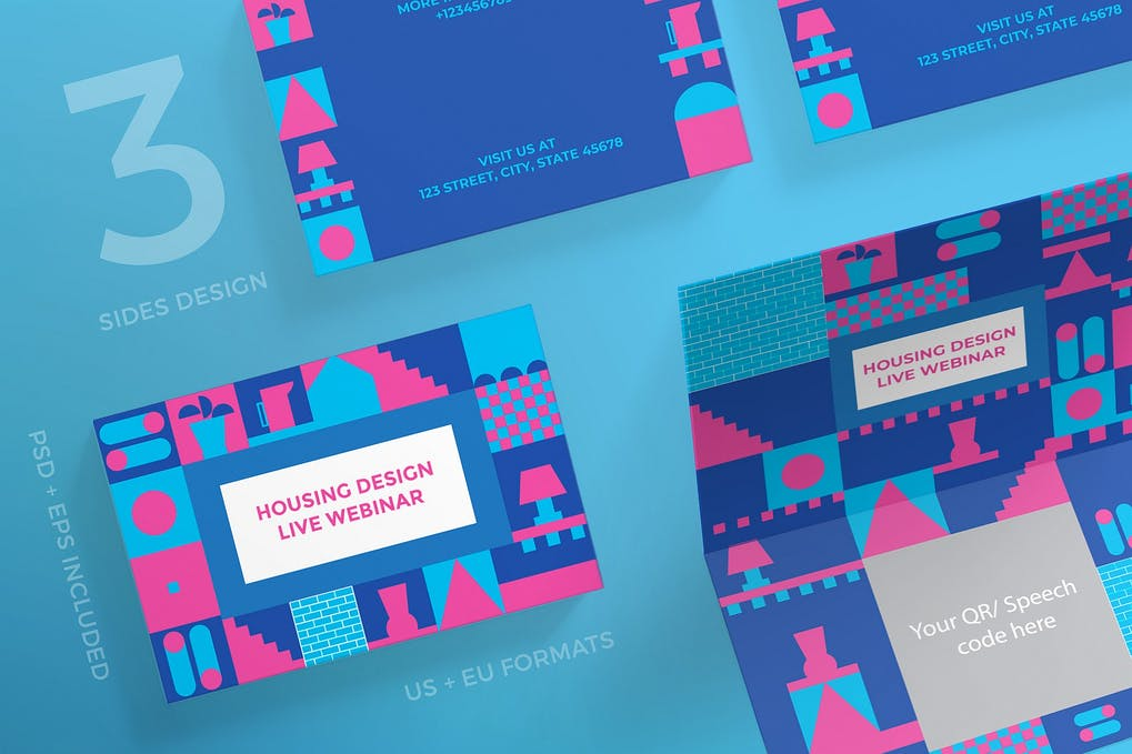 art director's pick of interior design business card #2