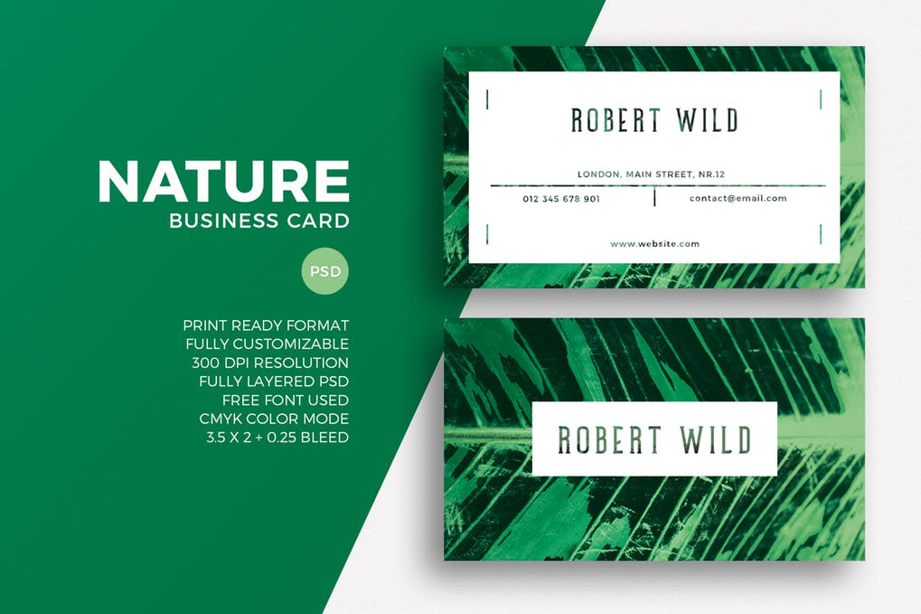 art director's pick of landscaping business card #1