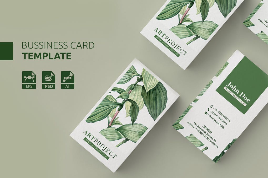 art director's pick of landscaping business card #10
