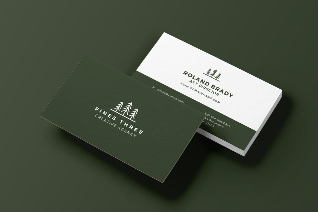 art director's pick of landscaping business card #11