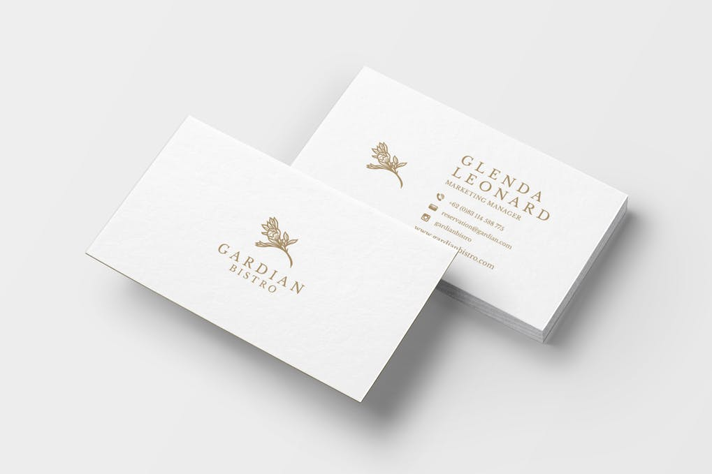 art director's pick of landscaping business card #9