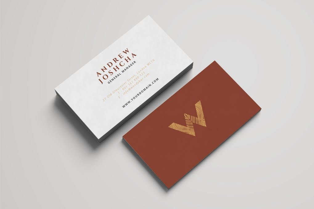 art director's pick of law firm business card #11