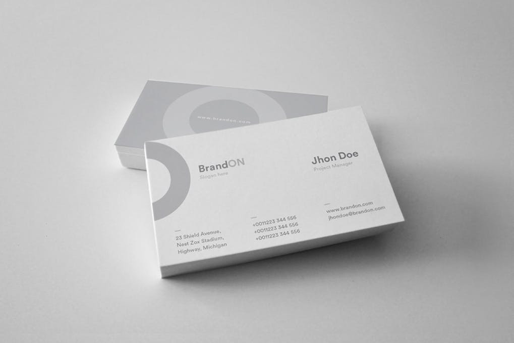 art director's pick of law firm business card #16