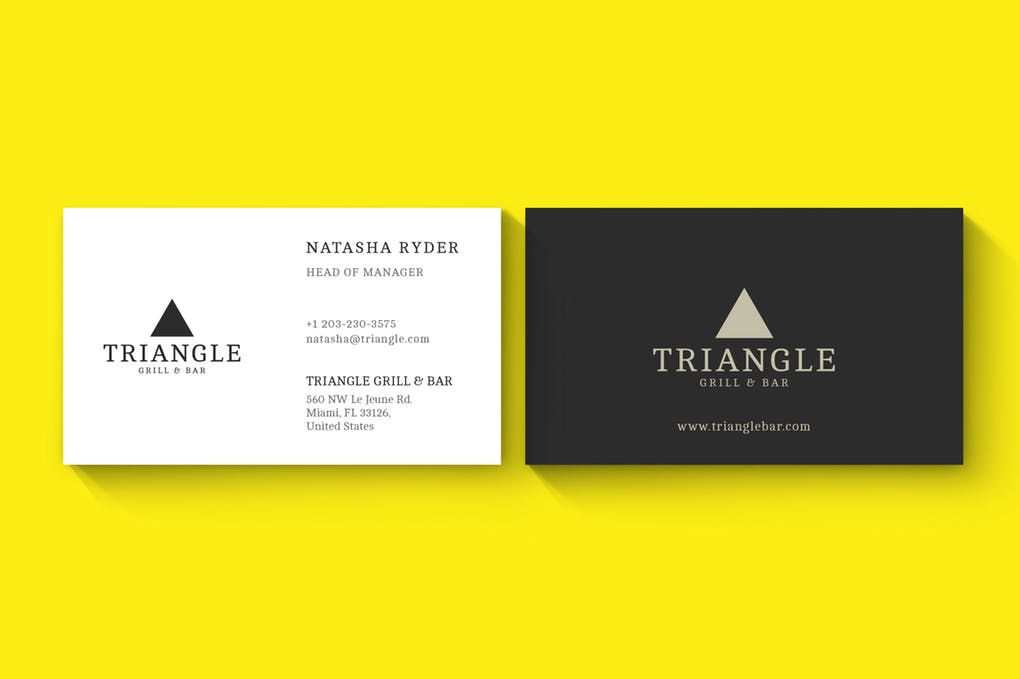 art director's pick of law firm business card #17