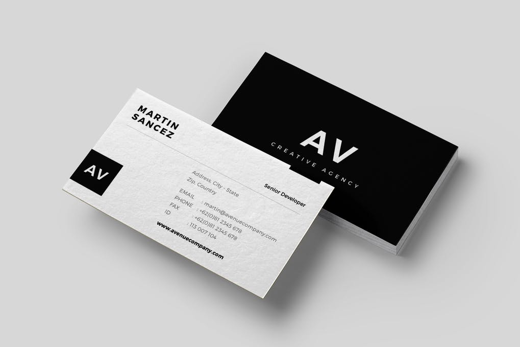 art director's pick of law firm business card #3