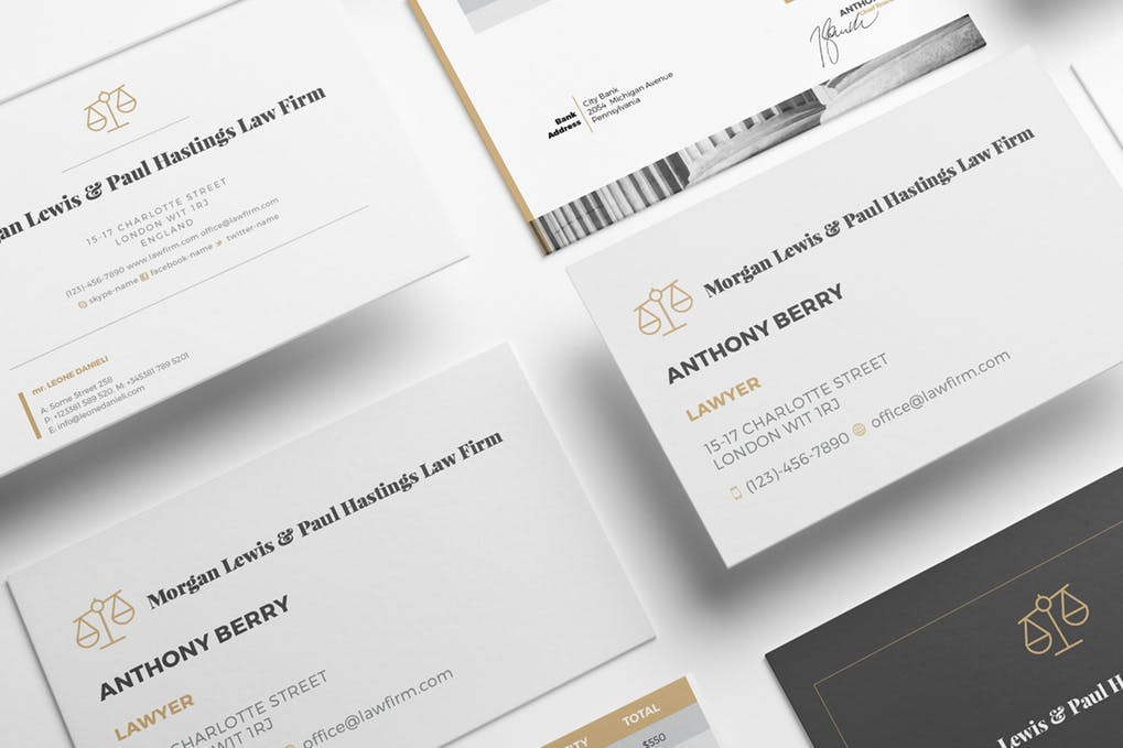 art director's pick of law firm business card #4