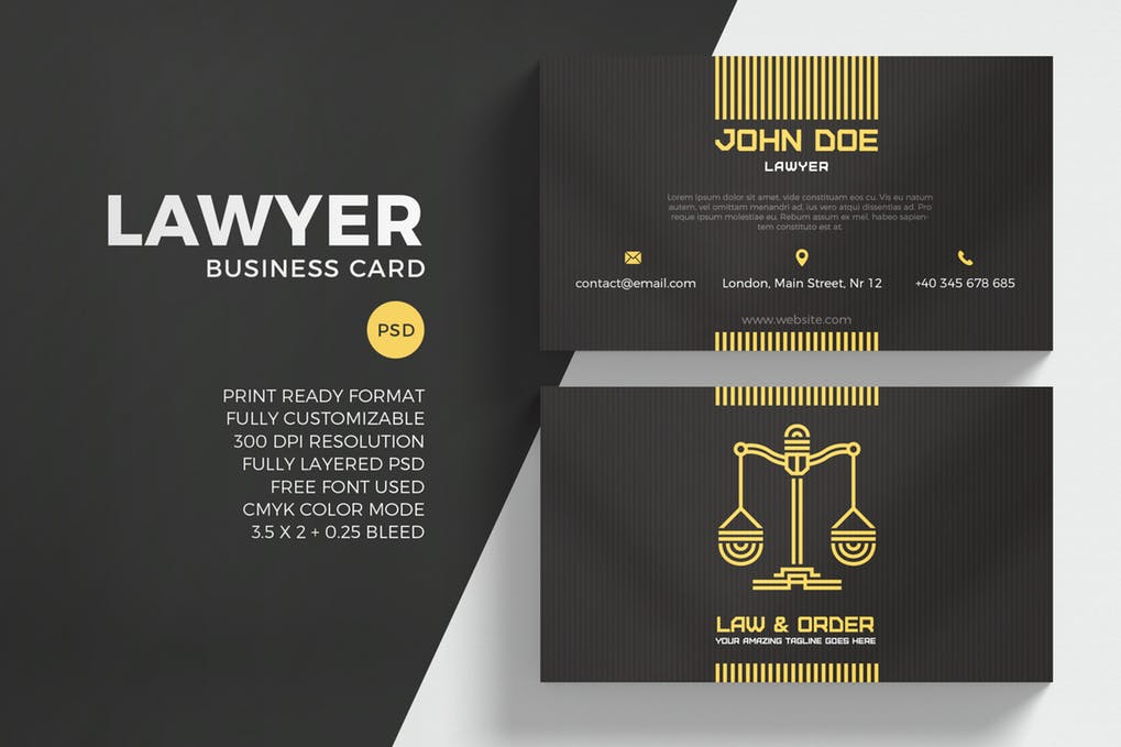 art director's pick of law firm business card #5