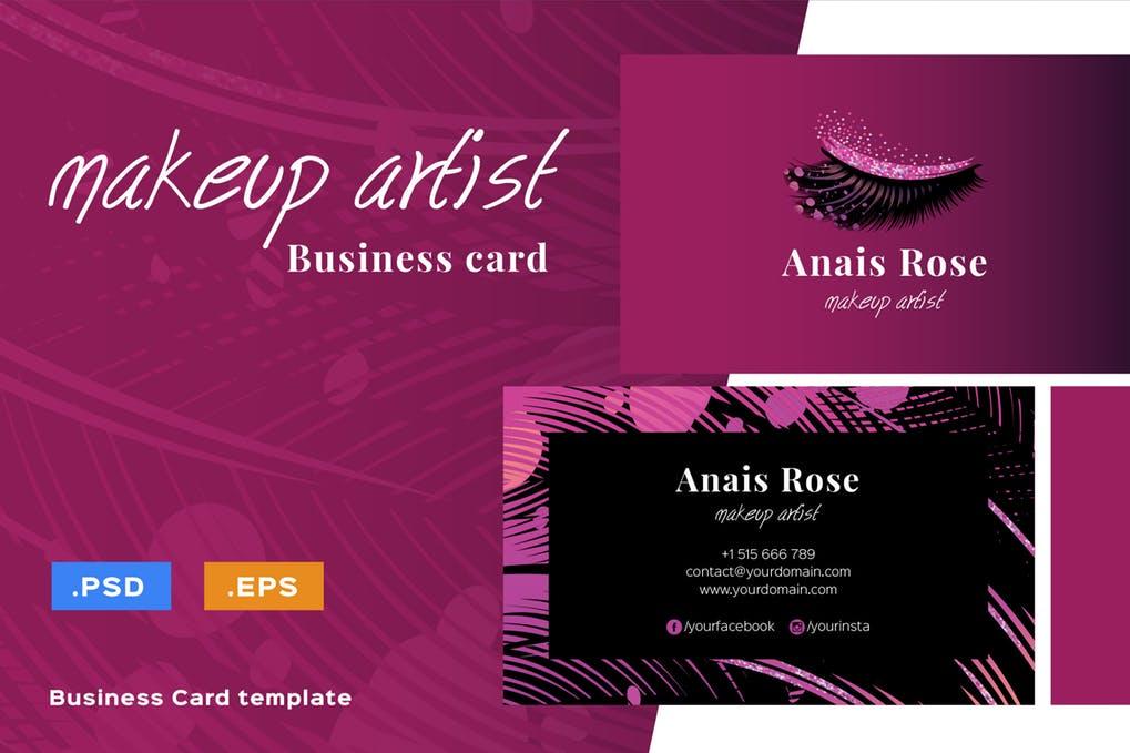 art director's pick of makeup artist business card #3