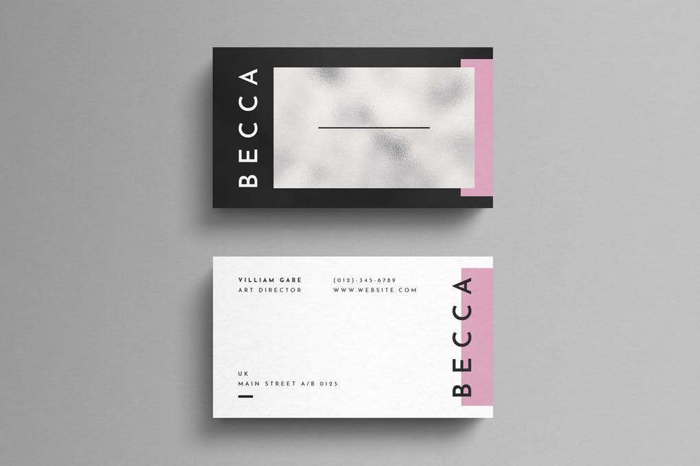 art director's pick of makeup artist business card #4