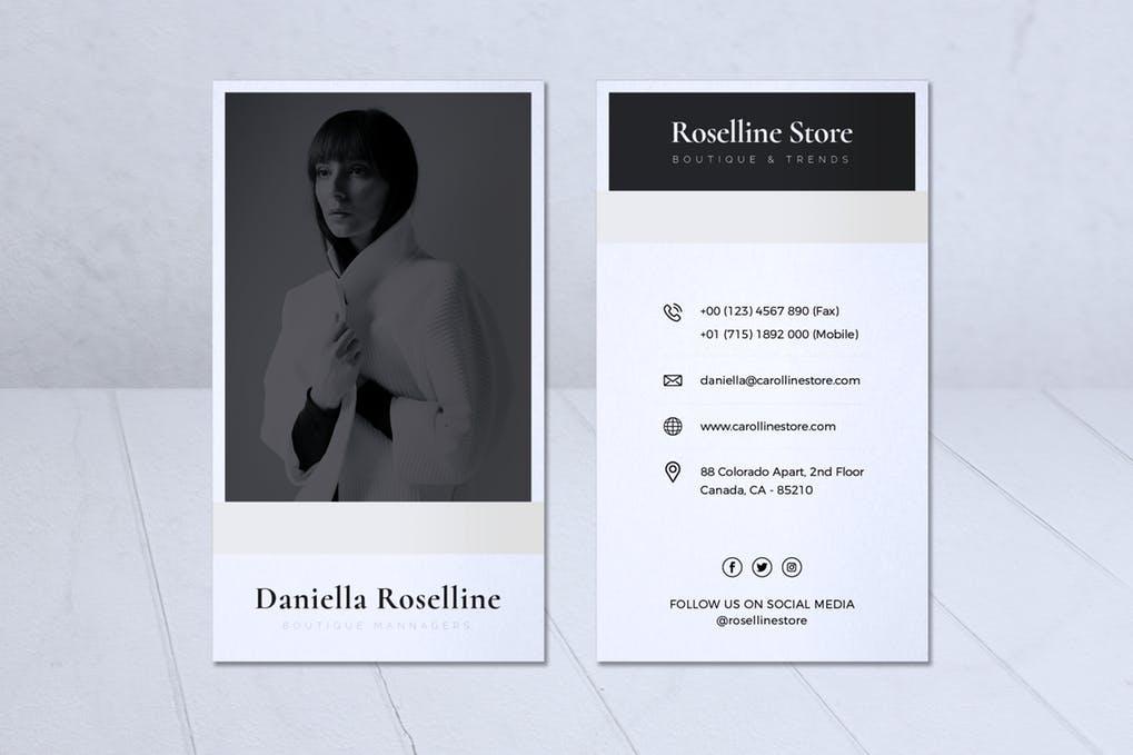art director's pick of makeup artist business card #7