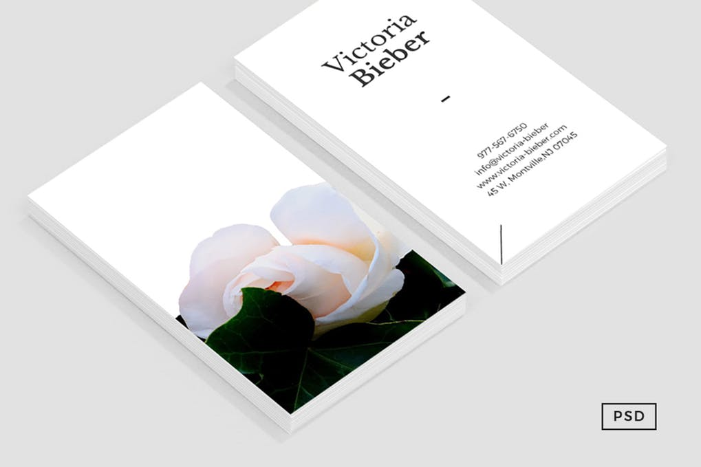 art director's pick of makeup artist business card #9