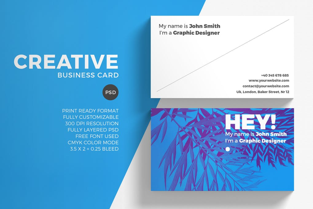 art director's pick of marketing business card #9