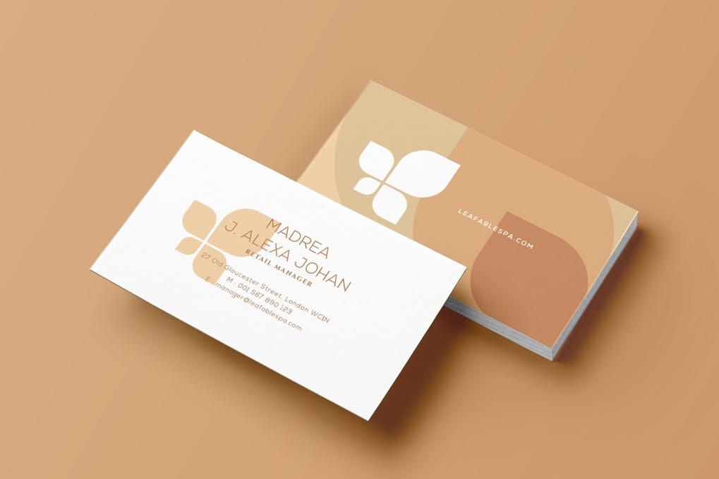 art director's pick of massage business card #1