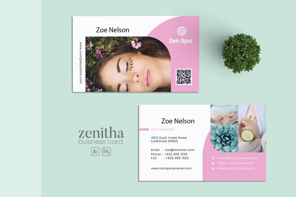 art director's pick of massage business card #2