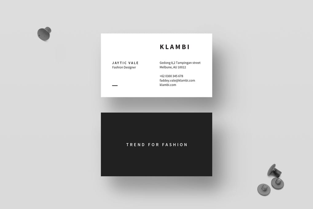 art director's pick of minimalist business card #14