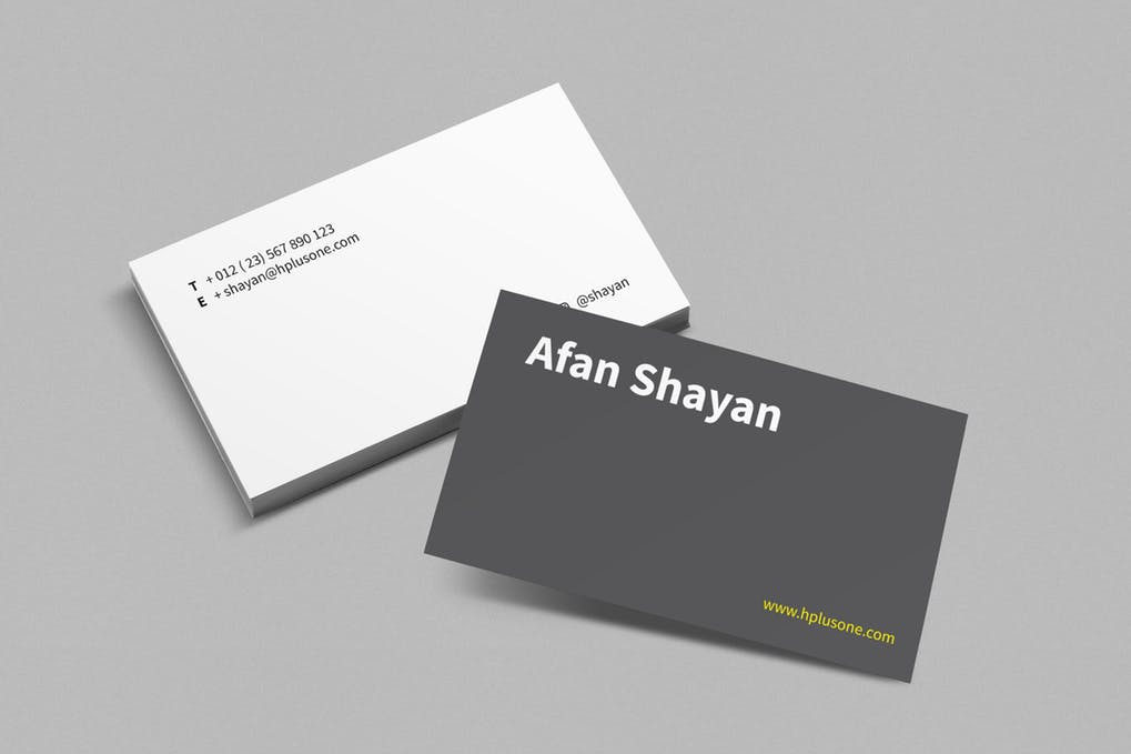 art director's pick of minimalist business card #15