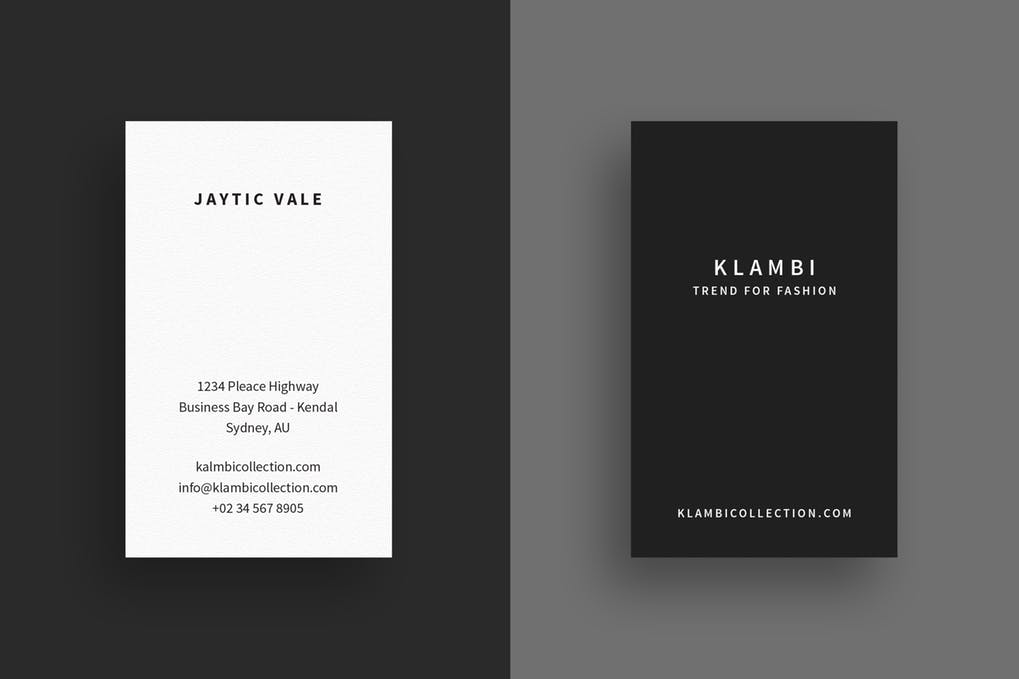 art director's pick of minimalist business card #17