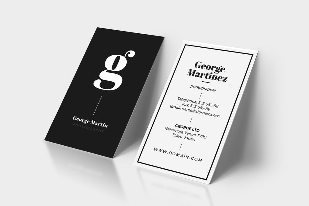 art director's pick of minimalist business card #18