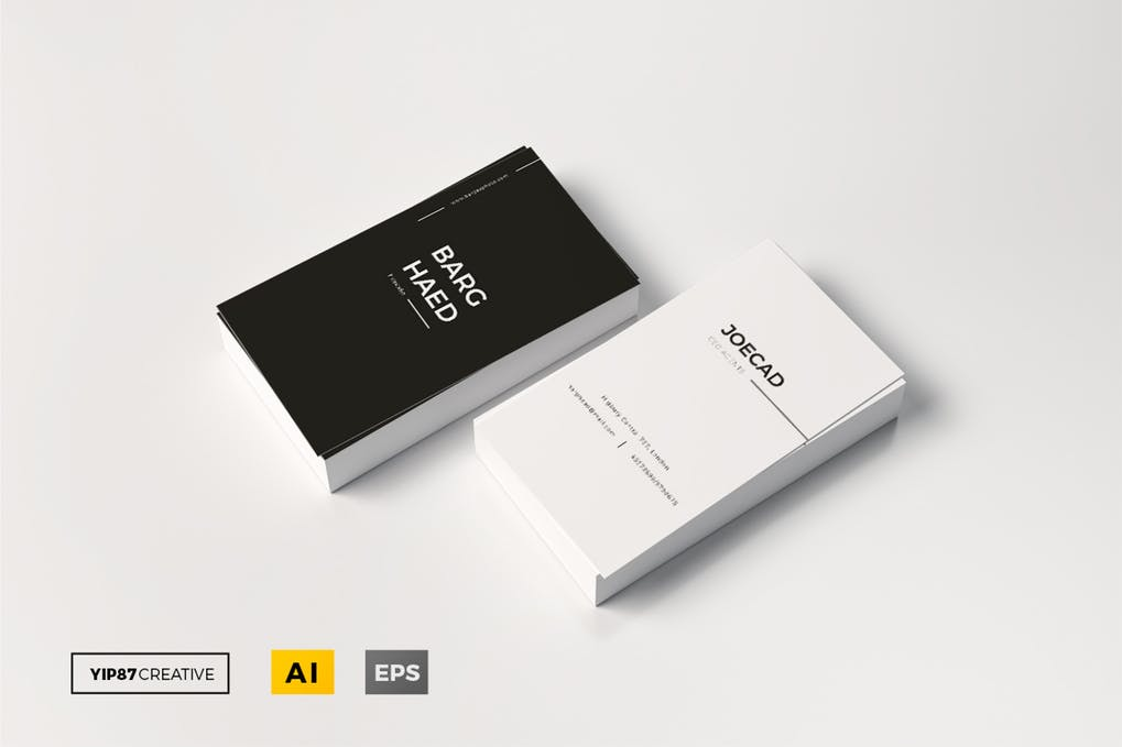 art director's pick of minimalist business card #19