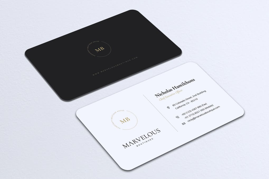 art director's pick of minimalist business card #2