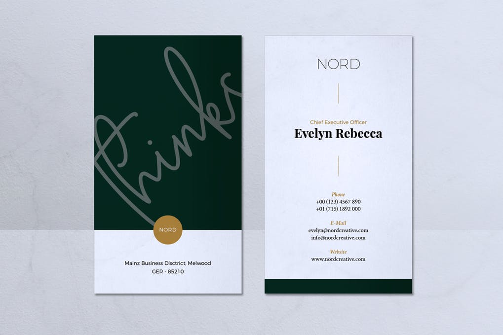 art director's pick of minimalist business card #6