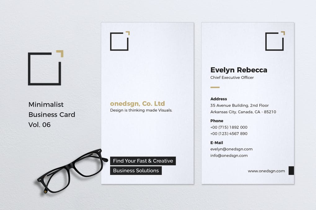 art director's pick of minimalist business card #7
