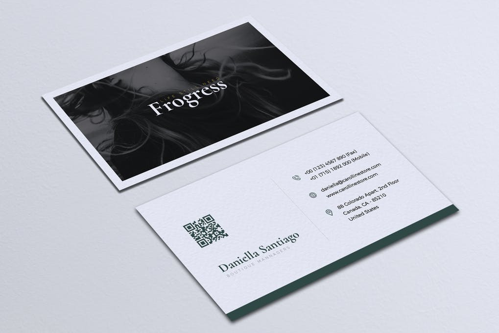 art director's pick of minimalist business card #9