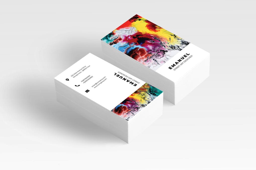 art director's pick of painting business card #3