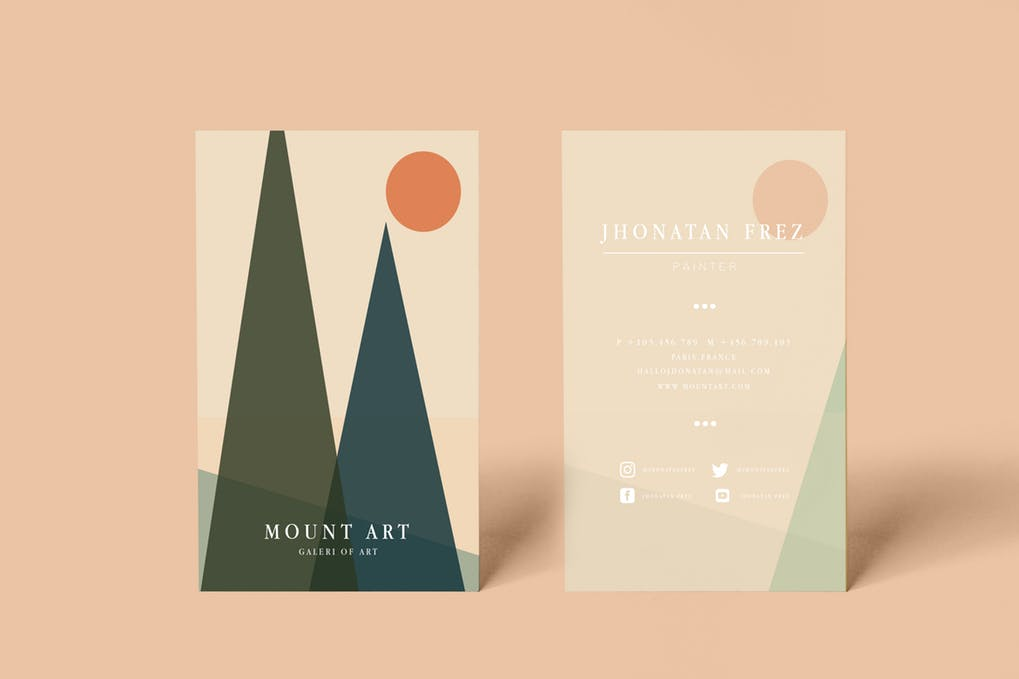 art director's pick of painting business card #4