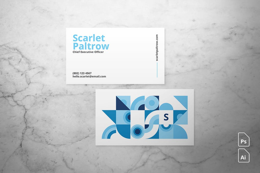art director's pick of painting business card #5