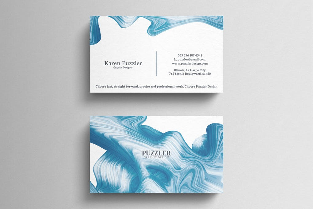 art director's pick of painting business card #8
