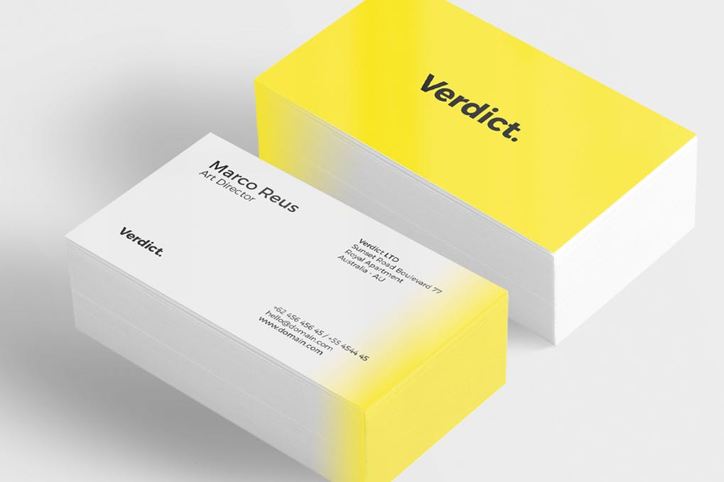 art director's pick of personal business card #26