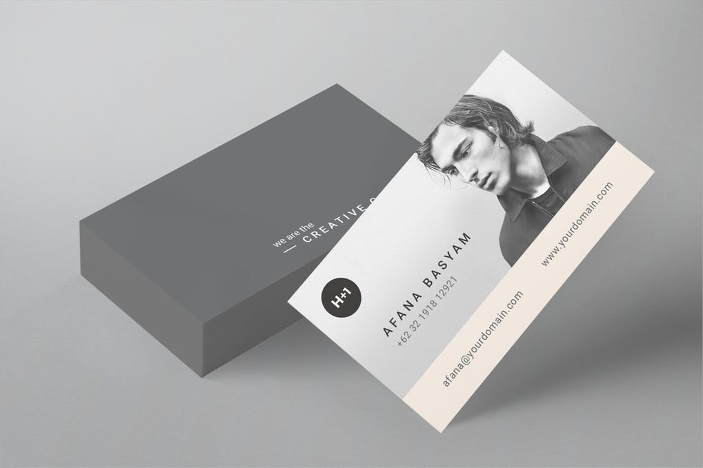 art director's pick of personal trainer business card #3