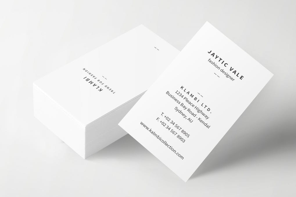 art director's pick of personal trainer business card #5