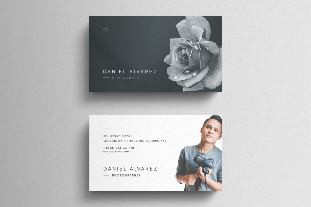 art director's pick of photography business card #1