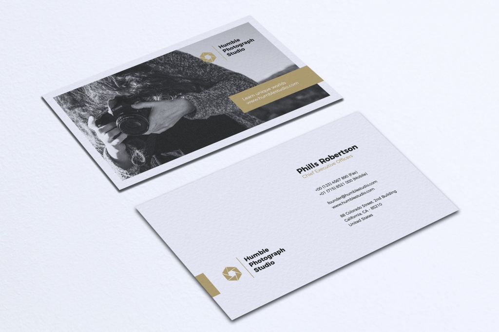 art director's pick of photography business card #14