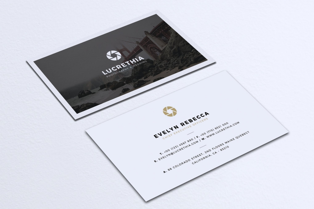 art director's pick of photography business card #5