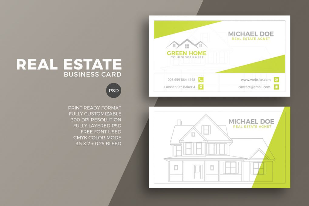 art director's pick of real estate business card #1