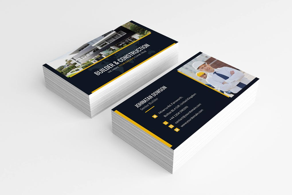art director's pick of real estate investor business card #1